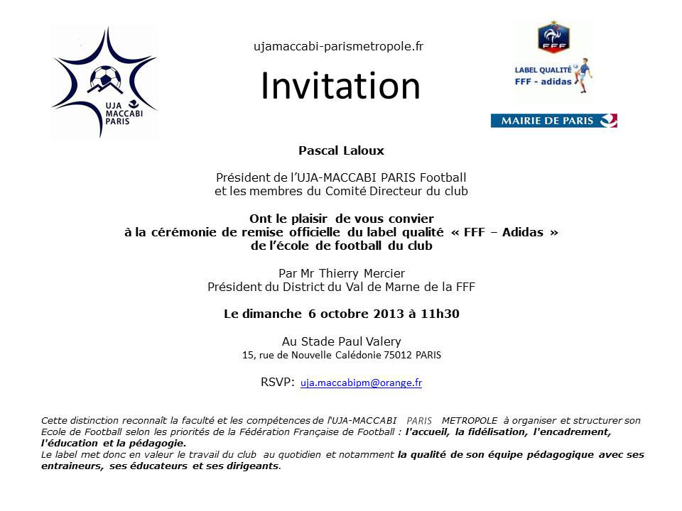 Invitation label